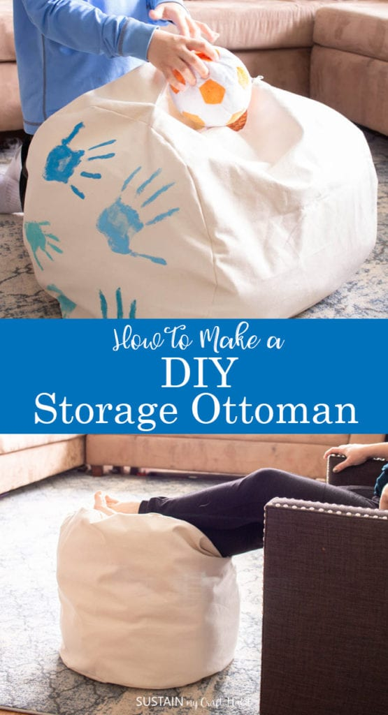 how to make a DIY storage ottoman
