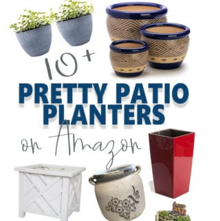 Pretty patio planters available on Amazon
