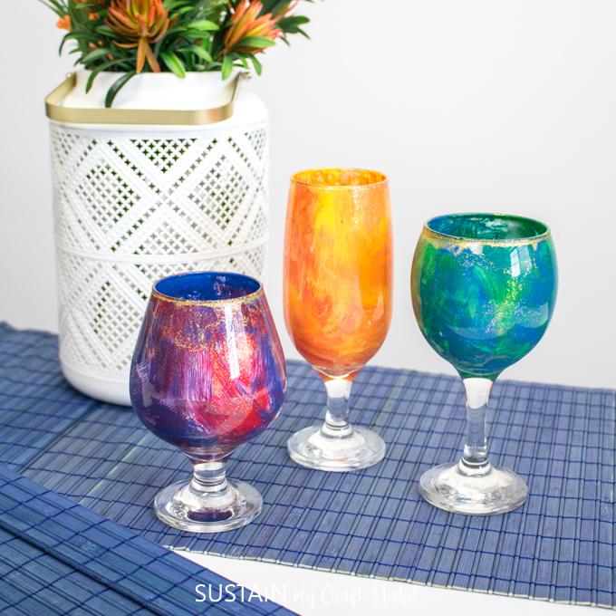 glassware centerpiece idea