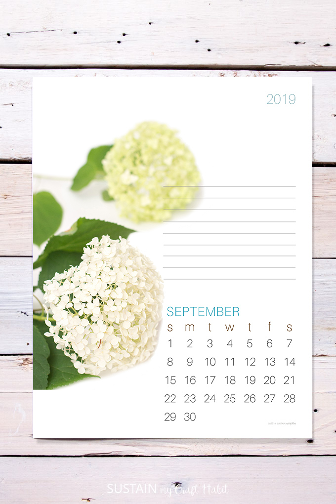 Fantastic Septembers Floral 2019 Free Printable Calendar Page Is Here Download Free Architecture Designs Scobabritishbridgeorg