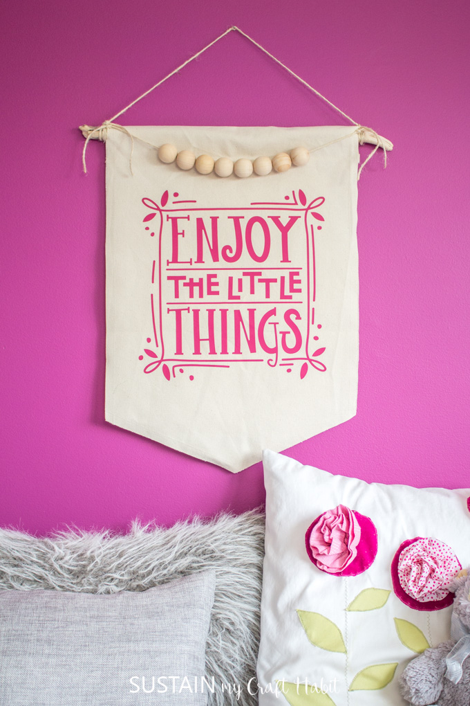 Diy Canvas Wall Hanging Enjoy The Little Things Sustain