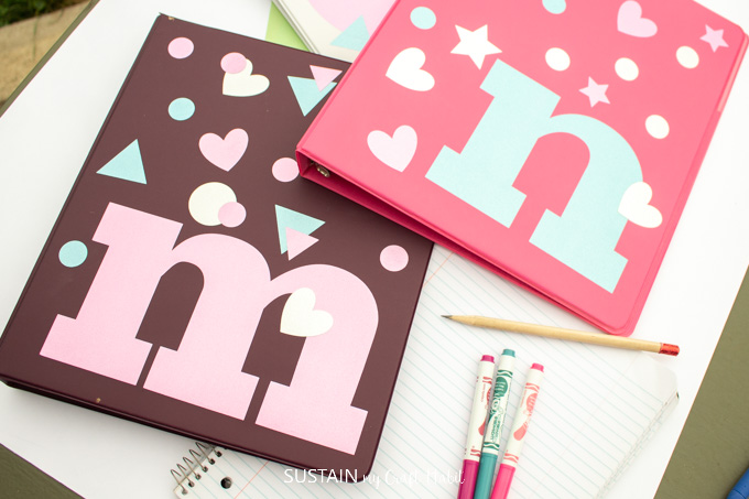 Easy Personalized Binders for Back to School (with the