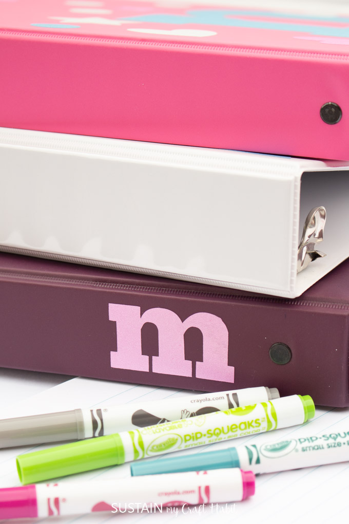 Easy Personalized Binders For Back To School With The