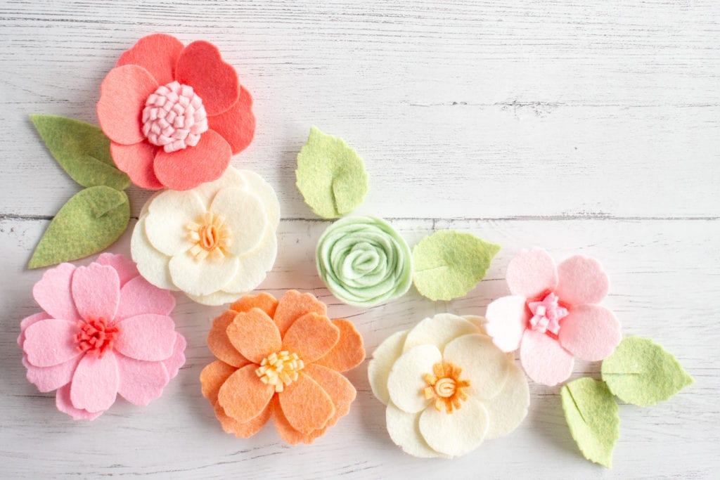 Girl S Pretty Diy Headband With Felt Flowers Sustain My