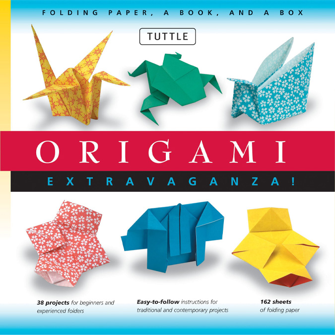 Book about origami showing different paper crafts you can make.