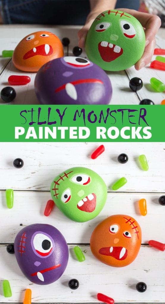 halloween rock painting