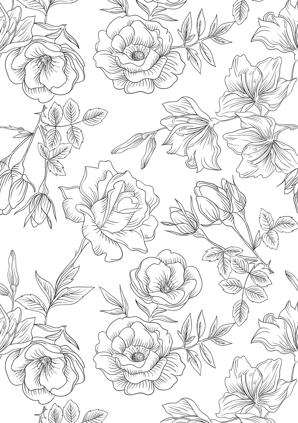 20+ Free Nature-Themed Adult Coloring Pages - Sustain My ...