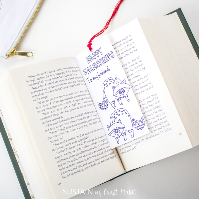using diy coloring bookmark