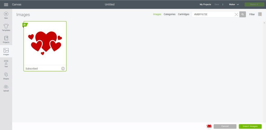 search template in design soace