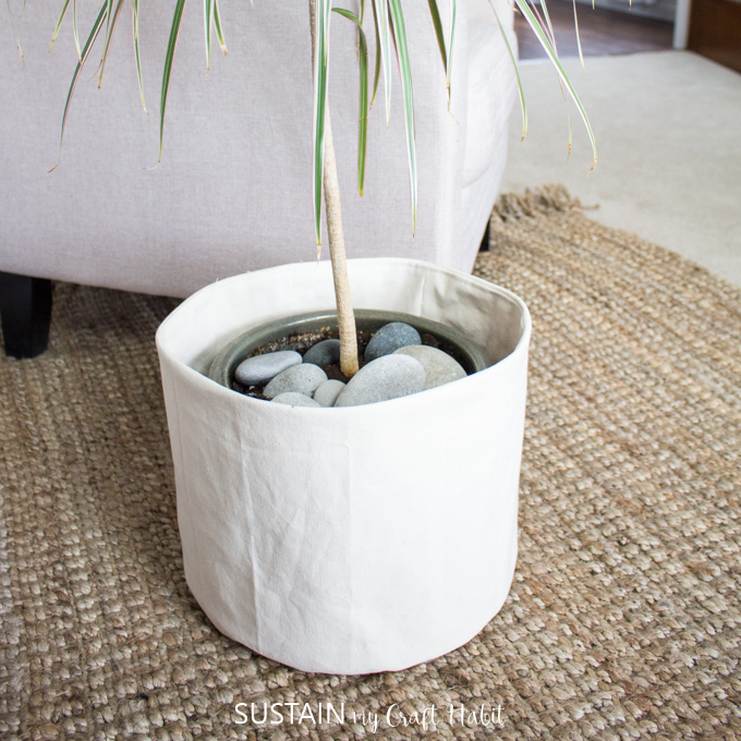 canvas planter bag