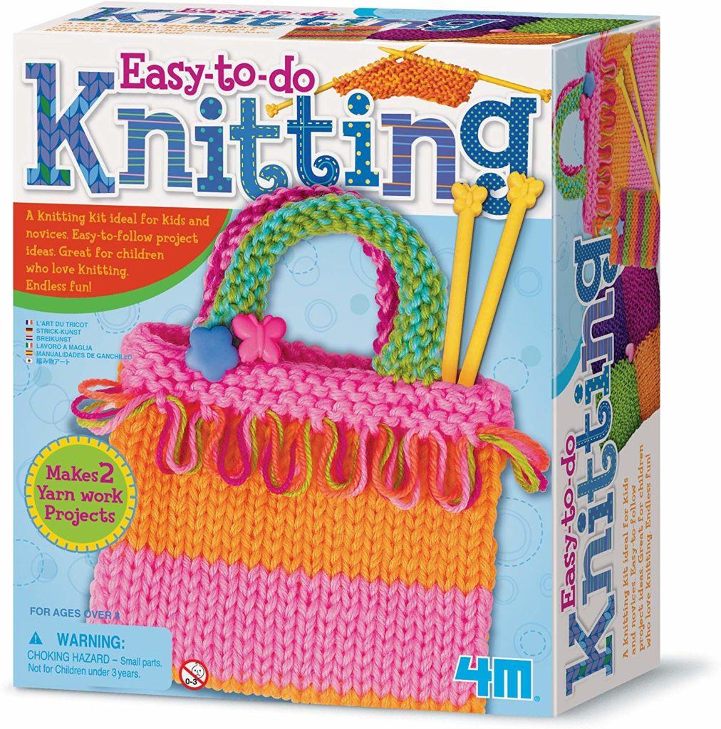 Product image of the easy-to-do knitting kit.