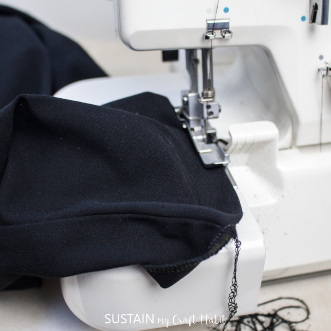 finish the cut edge with serger or zig zag stitch