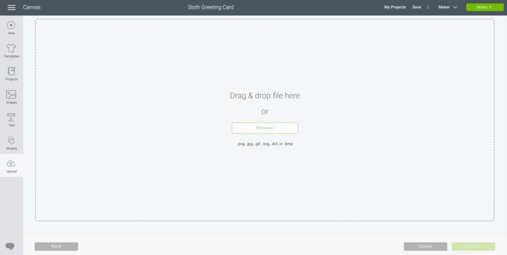 browse downloads for uploading svg file