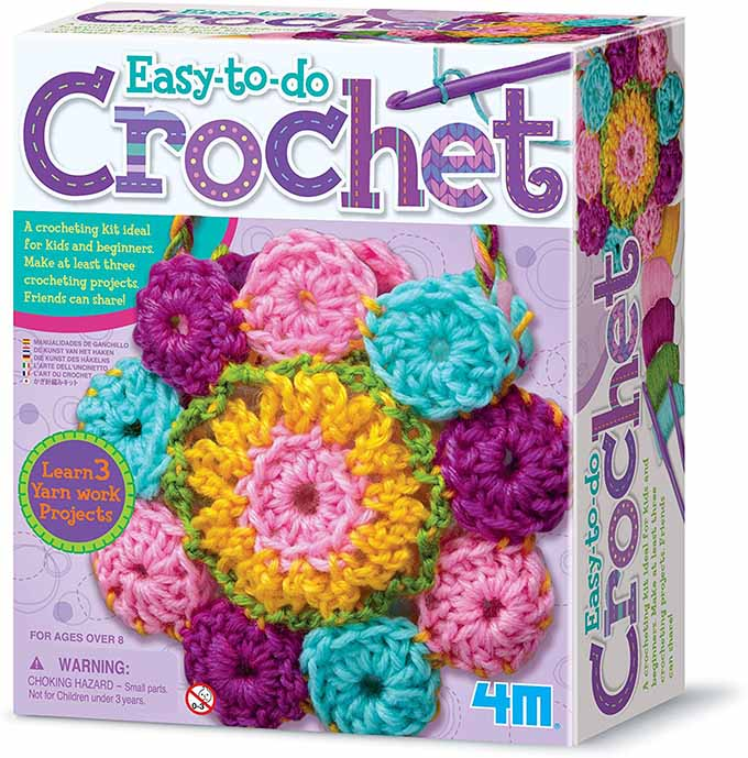 Product image of the easy-to-do crochet kit.