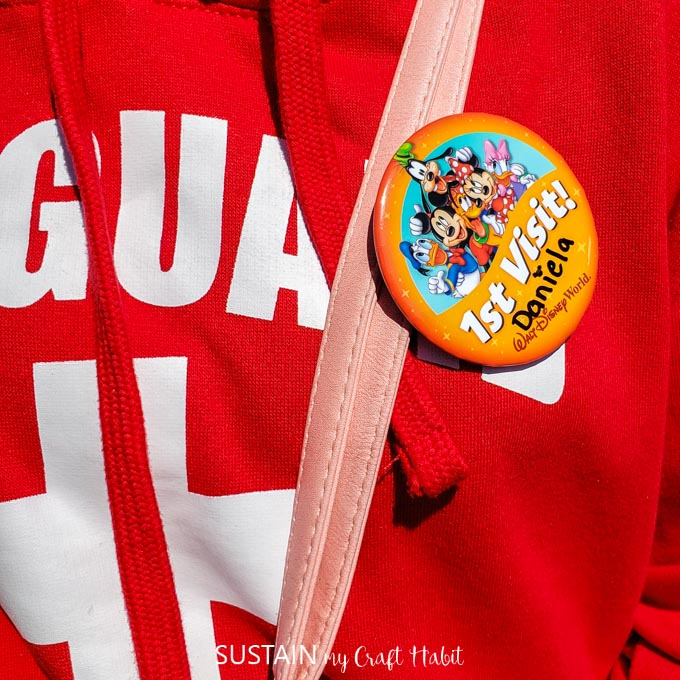 get a 1st visit pin at Magic Kingdom