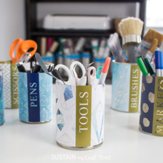 craft room organization ideas on a budget