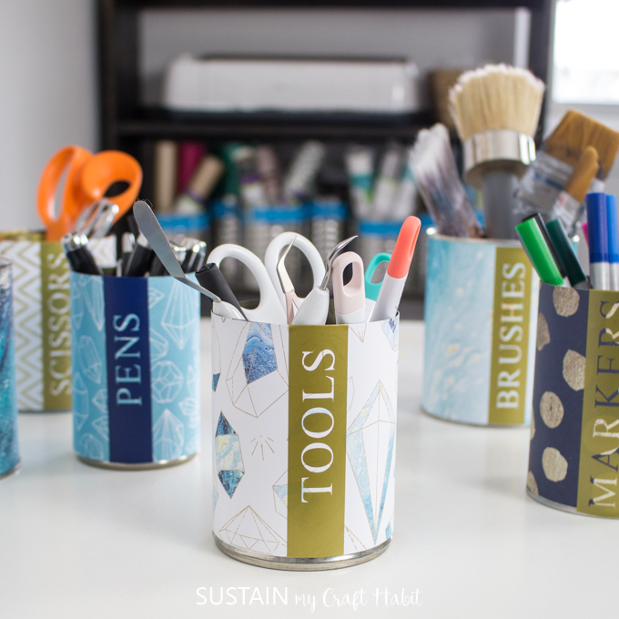 craft room organization ideas on a budget