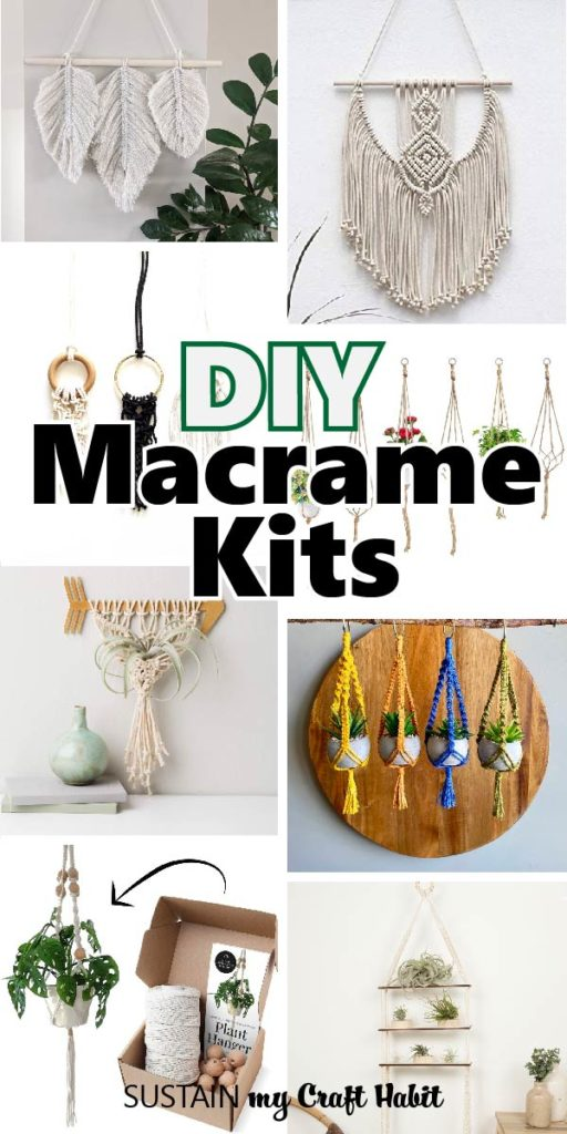 A collection of beautiful and beginner macrame kits available for purchase.