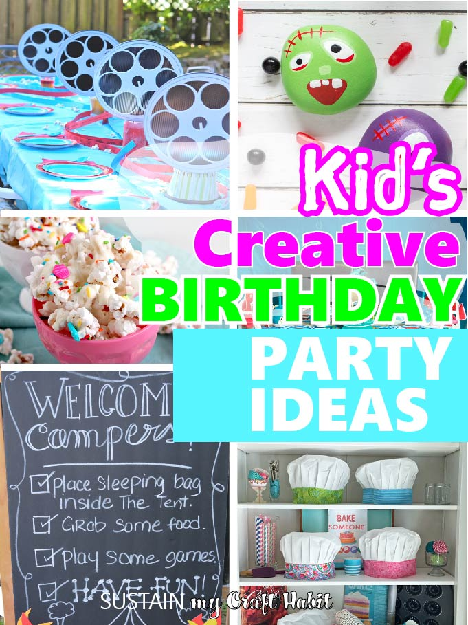 round up images of creative kid's birthday party ideas