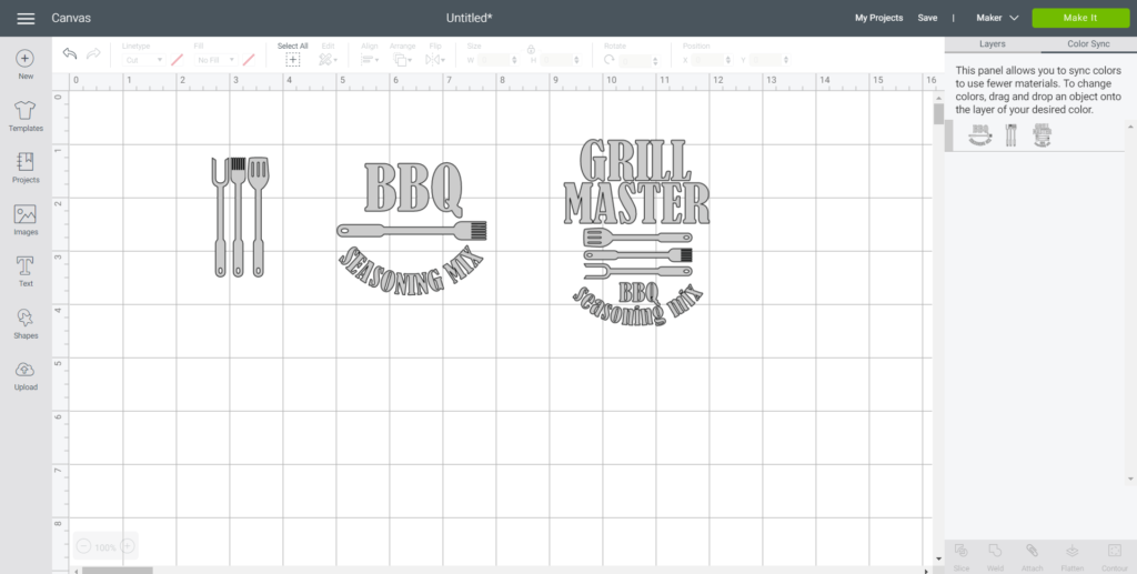 Syncing Color of images in Cricut Design Space.