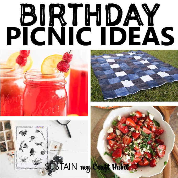 round up of birthday picnic ideas