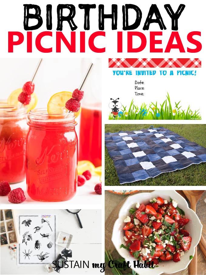 Birthday Picnic Ideas Sustain My Craft Habit