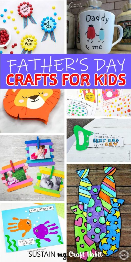 round up of father's day crafts for kids
