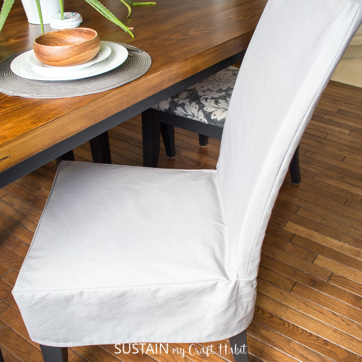 Slipcover For A Dining Chair, How To Make Chair Covers For Dining Room