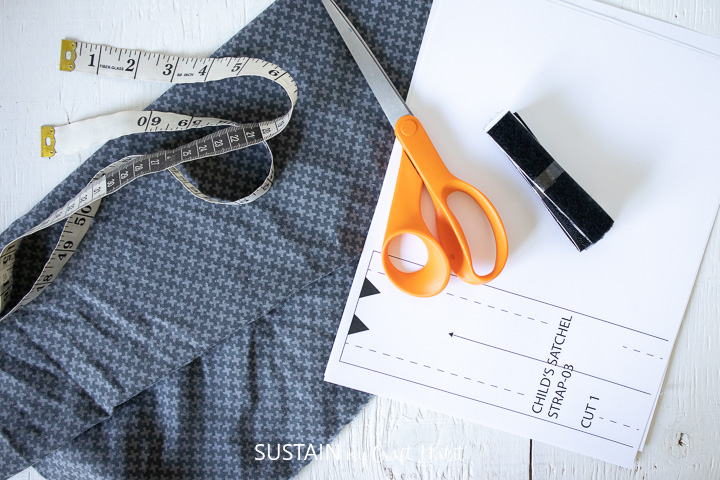supplies needed to make a diy mask pouch for kids