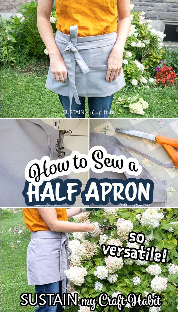 half apron sewing pattern