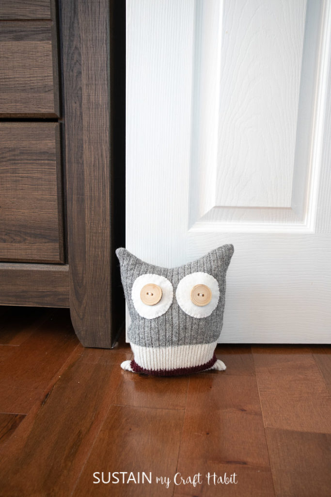 Upcycling Socks To Make A Homemade Door Stop Sustain My Craft Habit