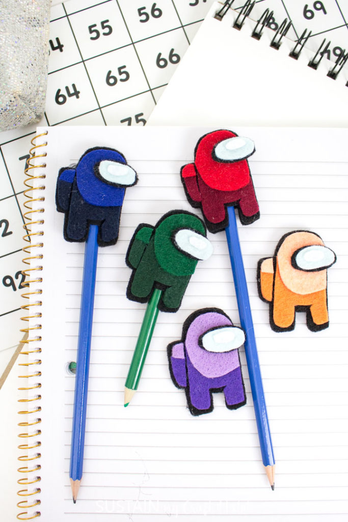 Among Us Pencil Toppers