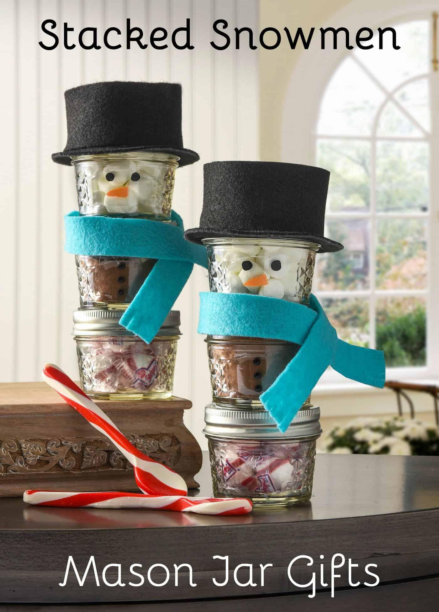 mason jar Christmas crafts snowmen