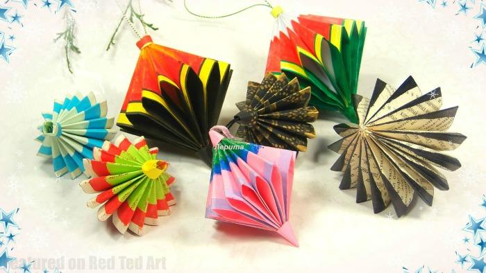 cool paper craft ornaments.