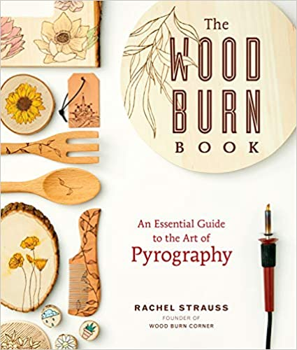 Book cover about wood burning crafts.