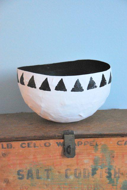 cool paper crafts paper mache bowl