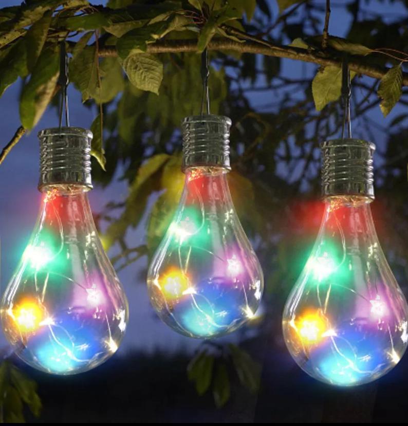 fairy light light bulb ornament.