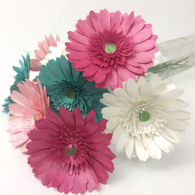cool paper crafts gerbara daisies.