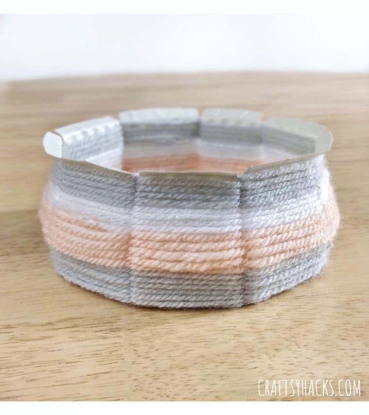 cool crafts woven yarn bowl.
