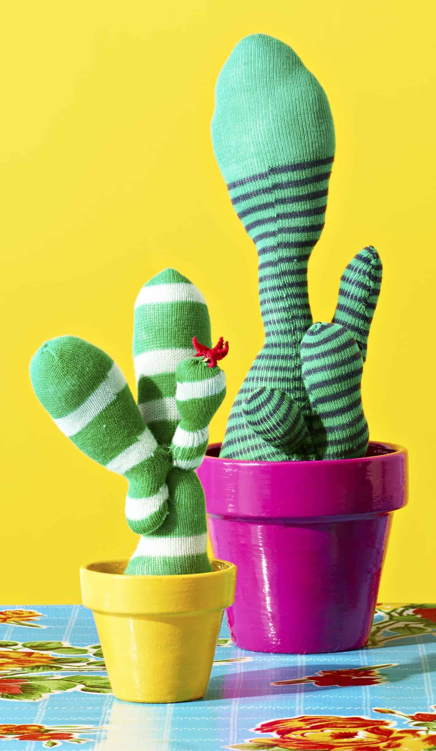 cool craft faux cacti garden.