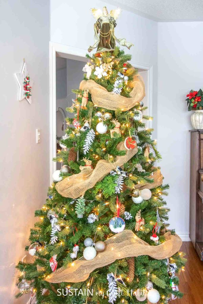 fully decorated Christmas tree
