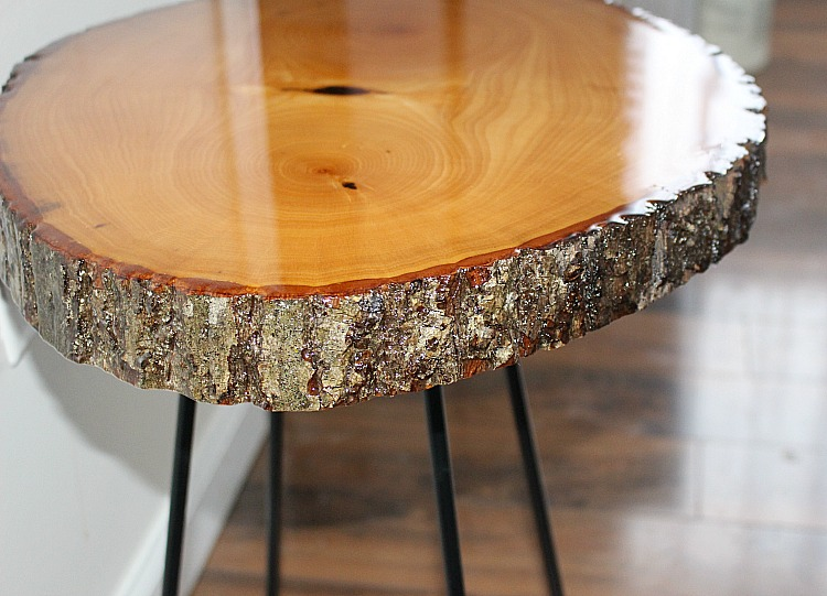 Resin crafts wood table