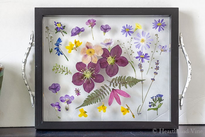 resin crafts pressed flower tray.