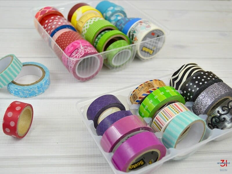 upcycled home organizing washi tape.