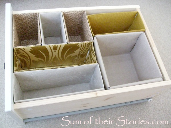 upcycled home organizing drawer dividers