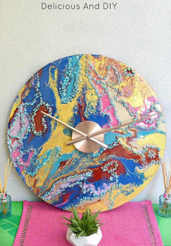 Resin crafts wall clock