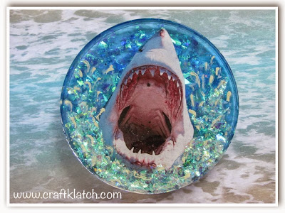 Resin crafts shark coaster
