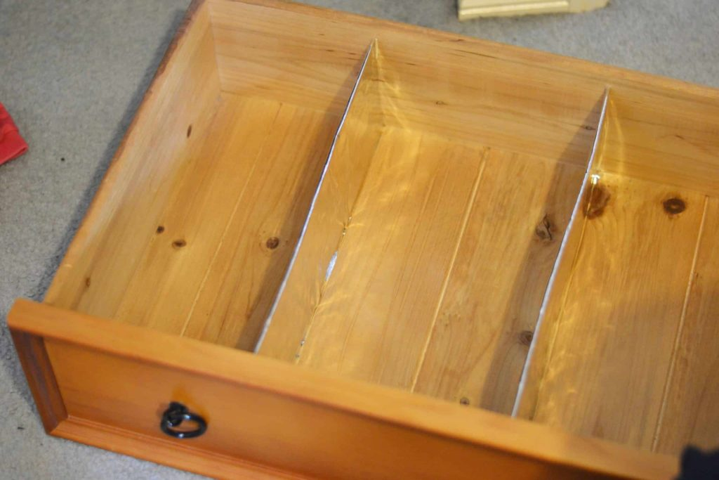 upcycled home organizing drawer dividers.