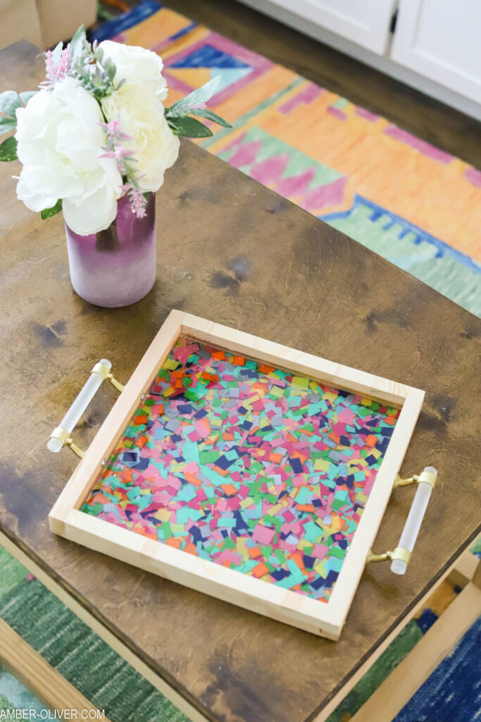 Resin crafts confetti tray