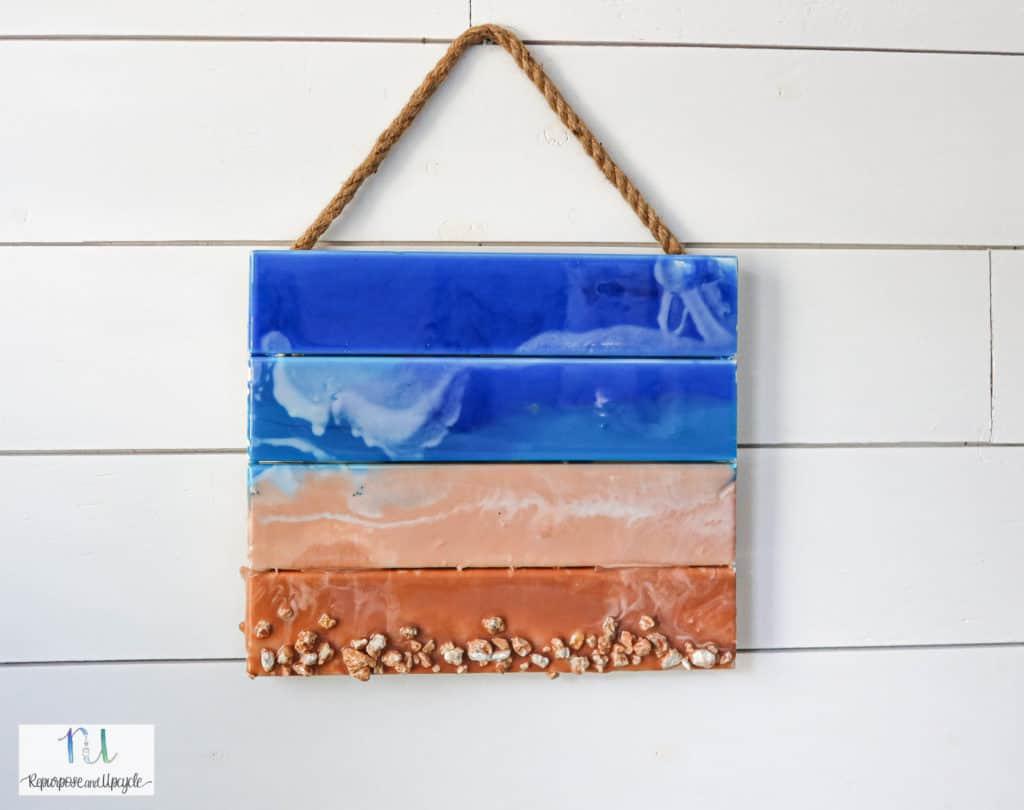 Resin crafts ocean art